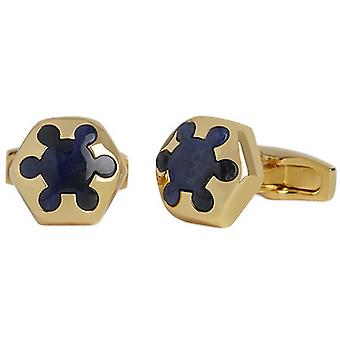 Simon Carter Radial Sodalite Cufflinks - Gold/Blue