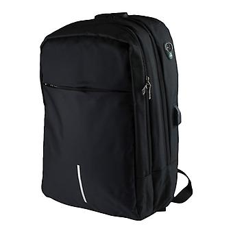 16 tommer laptop rygsæk med anti-tyveri og USB-port-sort
