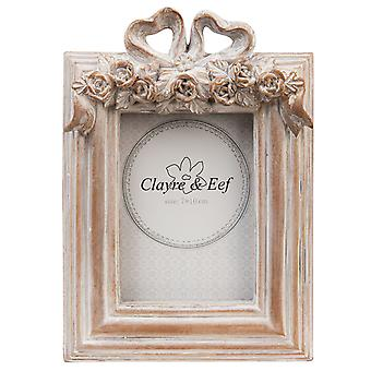 Clayre & EEF photo frame picture frames decorated Brown antique vintage shabby