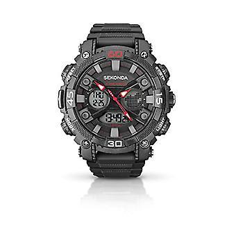 Sekonda pols horloge, digitaal, mannelijk, kunststof zwart