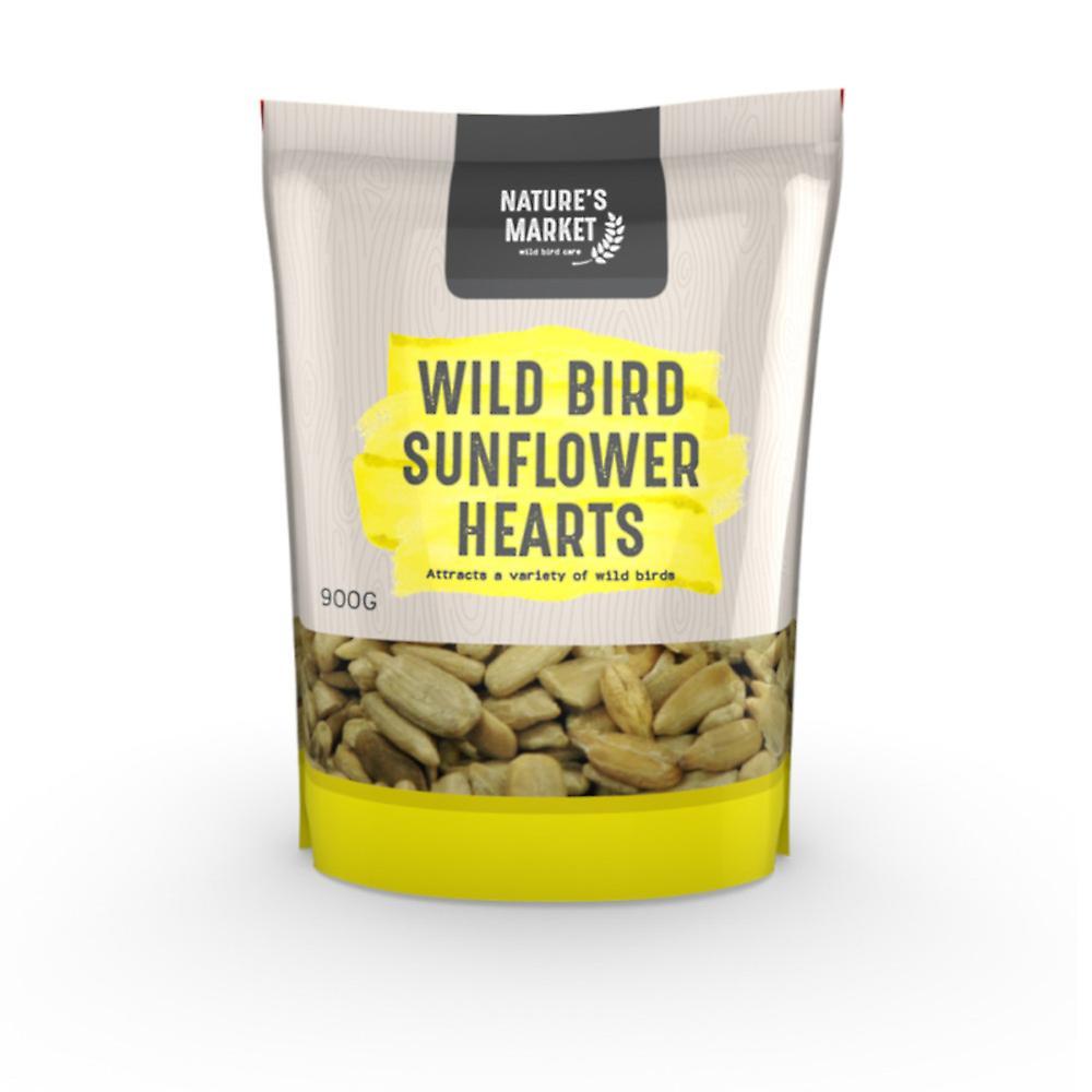 Natures Market 0.9kg (2 lbs) Bag of High Energy Sunflower Hearts Feed Wild Bird Food