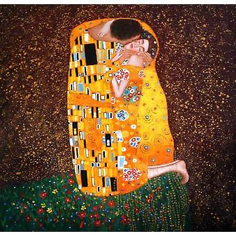 Gustav Klimt, the kiss, 50x60 cm oil painting