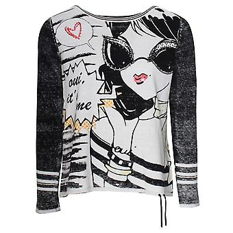 Oui Retro Cartoon Design Lightweight Jumper