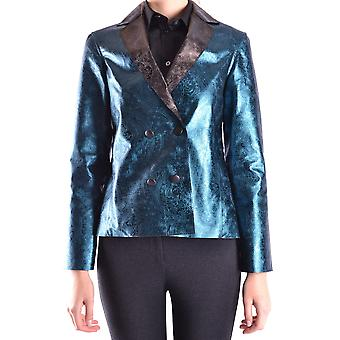 Ab Positive Ezbc244003 Women's Blue Nylon Blazer