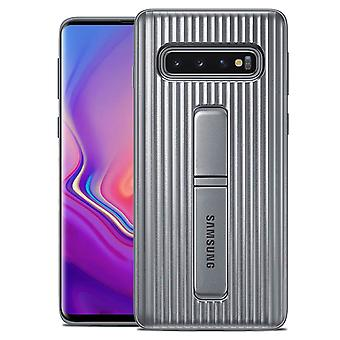 Galaxy S10 Plus Hard Protective Case Stand Original Samsung - Silver