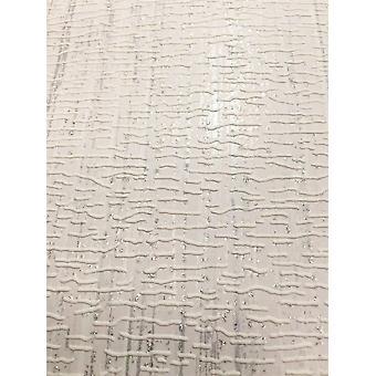 Textured Embossed Glitter Vinyl Wallpaper Modern White & Silver Deco Discount