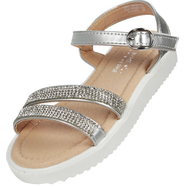 Girls silver sparkly fashion summer sandals