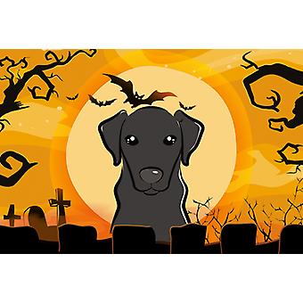 Carolines Treasures  BB1793PLMT Halloween Black Labrador Fabric Placemat