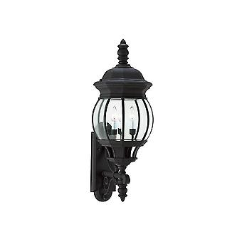Sea Gull Lighting 88202-12 Wynfield Outdoor 3-Light Wall Lantern Black Finish
