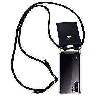 Cadorabo Phone Chain Case for Huawei P30 PRO Case Cover - Necklace Silicone Shoulder Case with Cord Ribbon Cord and Removable Case Case Cover Case Cover