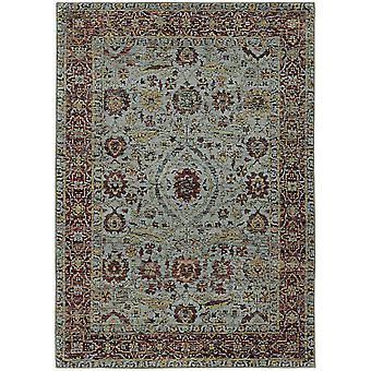 Andorra 7155a blue/ red indoor area rug rectangle 3'3