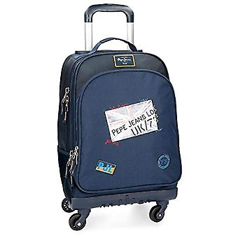 Pepe Jeans Scarf Blue Rolling Backpack 4W