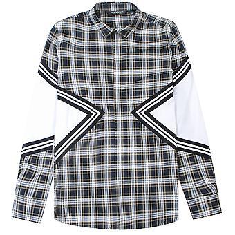 Neil Barrett camisa de Panelled chequered