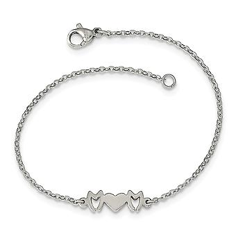 Stainless Steel Mom Bracelet  7.5 Inch Jewelry Gifts for Women