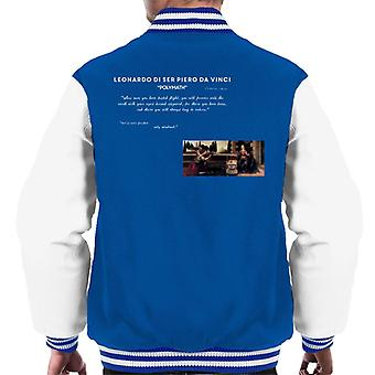 S.a. H Leonardo da Vinci Flight Quote menn ' s Varsity Jacket