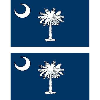 2 X Sticker Sticker Car Vinyl Pc Flag USA South Carolina