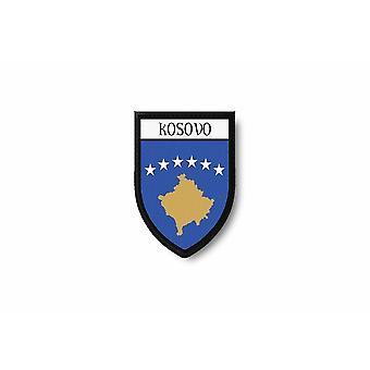 Patch Ecusson Termocollant rand Brode vlag wordt afgedrukt Kosovo Kosovar
