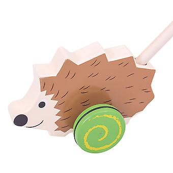 Bigjigs Toys Wooden Hedgehog Push Along Walker Walking Toy Mobility Learn
