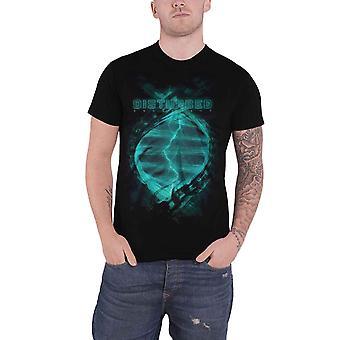 Disturbed T Shirt Evolutionary Band Logo new Official Mens Black