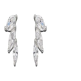 Elements Silver Sterling Silver Zirconia Marquise Stud Earrings E5819C