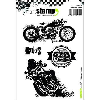 Carabelle студия «Поездка с Мотоциклы» цепляться за штамп, белый/прозрачный, A6