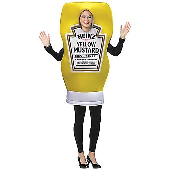 Heinz Mustard Yellow Sauce Condiment Food Deluxe Adult Womens Mens Costume