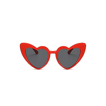 Attitude Clothing Red Heart Shape Cat Eye Sunglasses