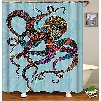 Gek kleuren Octopus douche gordijn
