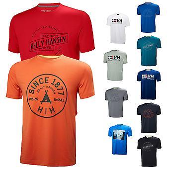Helly Hansen Sport Mens Rune SS Stretch T Shirt Grafik Reflective Top
