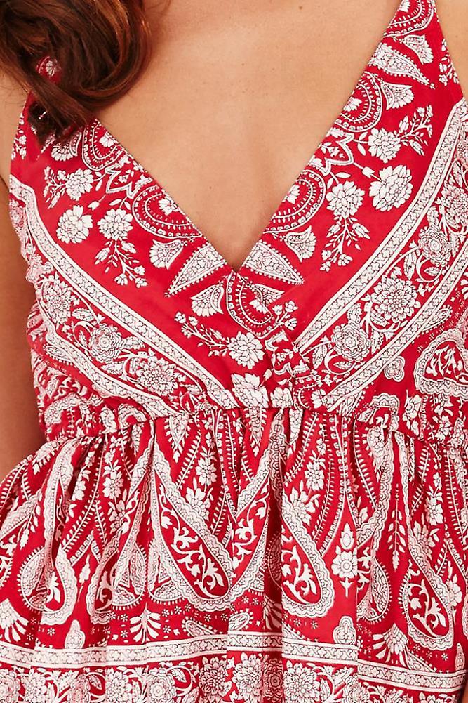 Pistachio Women's Floral & Paisley Sun Dress Sh0RQv