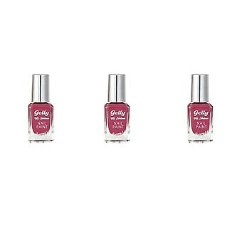 Barry M 3 X Barry M Gelly Hi Shine Nail Polish - Rhubarb