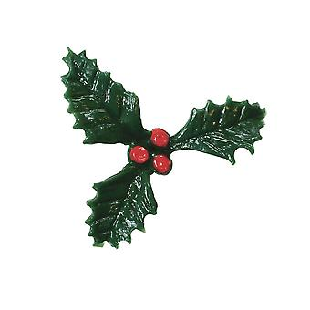 Culpitt Plastic Holly With Red Berry - 500 Pièces - Single