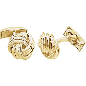 14k Yellow Gold Polished Knot Cuff Links Jewelry Gifts for Men - 12.7 Grams