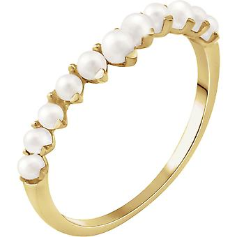 14k Yellow Gold Size 7 Polished White Freshwater Cultured Pearl Ring Jewelry Gifts for Women