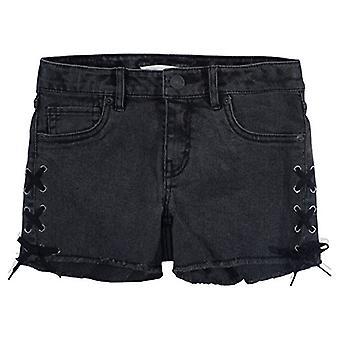 Levi's Girls' Denim Shorty Shorts, 14, Vasket Sort
