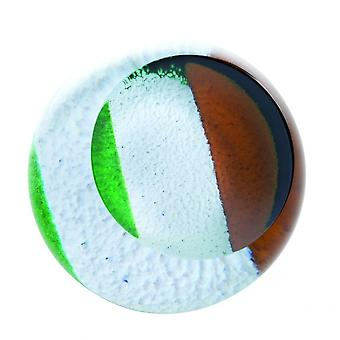 Caithness Glass Irish Tricolour Paperweight