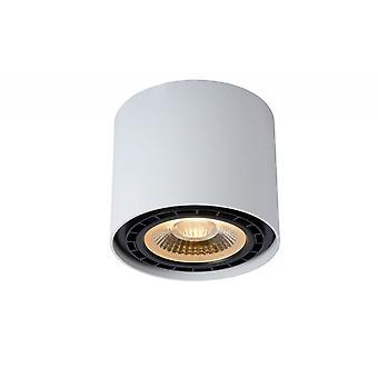 Lucide Fedler Modern Round Aluminum White Ceiling Spot Light