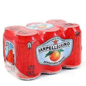 San Pellegrino Aranciata Rossa Cans-( 330 Ml X 6 Bokser)