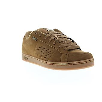 Etnies Kingpin Mens Brown Suede Low Top Lace Up Skate Sneakers Shoes