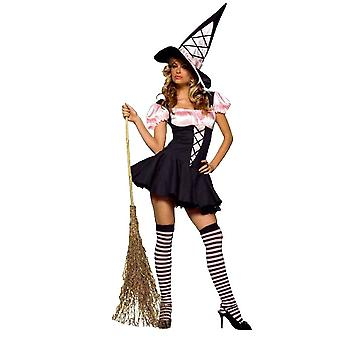 Sexy Pink Witch Costume for women