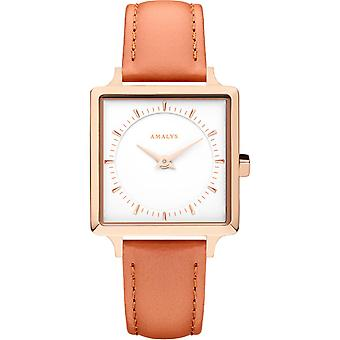 Montre Amalys SCARLET - Montre Cuir Orange Femme
