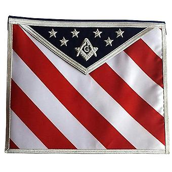 Masonic regalia hand embroidered u.s master mason apron with g logo