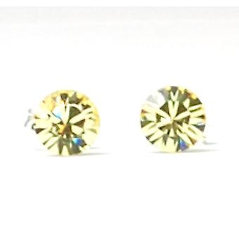 The Olivia Collection Sterling Silver Swarovski Jonquil Stud Earrings