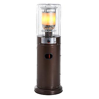 Outsunny 11KW Patio Bullet Heater Gas Glass Tube Electronic Ignition Floor Standing Stainless Steel Garden Outdoor 135Hcm