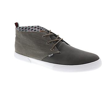 Ben Sherman Bristol  Mens Gray Canvas Casual Fashion Sneakers Shoes