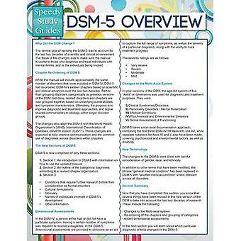 DSM5 Overview Speedy Study Guides by Publishing LLC & Speedy