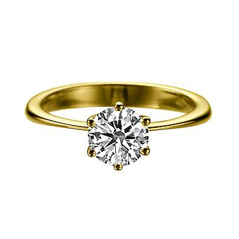 1,90 CT 8,00 MM Forever einen Moissanite Engagement Ring 14K Gelb Gold Solitaire Classic 6 Krallen