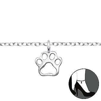 Paw Print - 925 Sterling Silver Anklets - W31116x