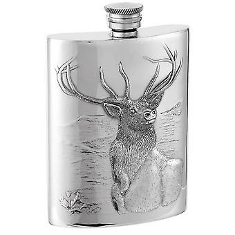 Glen Vida Top Hip Flask Orton Batı 6oz Monarch - Gümüş