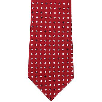 Michelsons of London Highlight Spot Silk Tie - Red